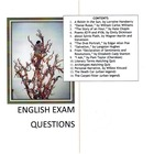 MC English Exam Questions