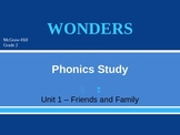 McGraw-Hill Wonders PHONICS STUDY BOARD - Grade 2:  Unit 1
