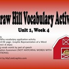 McGraw Hill Reading Wonders Unit 1, Week 4 Vocabulary Pack