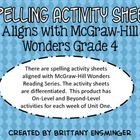 McGraw Hill Wonders Grade 4 Spelling Activities