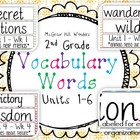 McGraw Hill Wonders Vocabulary Words Second Grade