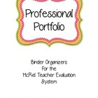 McRel Teacher Evalution Portfolio Binder Organizers