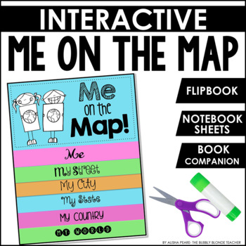 Me on the Map Book Companion Packet with interactive sheets
