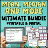 Mean, Median, Mode, Range Bundle Task Cards, Posters, Acti