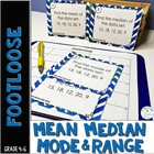 Mean, Median, Mode, & Range Footloose