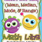 Mean, Median, Mode, Range *Math Lib* Task Rotation Activity