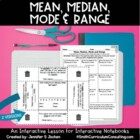 Mean, Median, Mode and Range Flippable