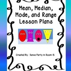 Mean, Median, Mode, and Range Lesson Plans, Task Cards, an