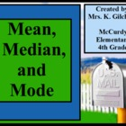 Mean Median and Mode Promethean Flipchart Lesson