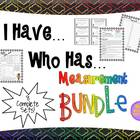 Measurement I Have Who Has + Quick Quiz (Measurement BUNDLE)