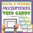 Measurement Task Cards Common Core 4.MD.1 { Differentiated }