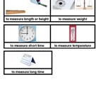 Measurement Tools Picture Sort