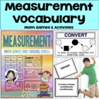 Measurement – Vocabulary Trading Cards Math Activities And