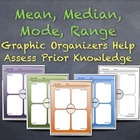 Measures of Central Tendency Graphic Organizers: Assess Pr