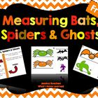 Measuring Bats, Spiders & Ghosts {Halloween Freebie}