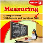 Measuring, Grade 2 - a complete unit with lessons and exercises