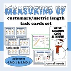 Measuring Up – customary & metric length task cards – Comm