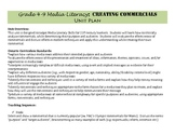 Media Literacy: Creating a Commercial Unit Plan