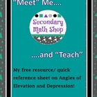 Meet and Teach:  Angles of Elevation and Depression Quick