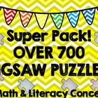 Puzzle Super Pack--700 Math & Literacy Jigsaw Puzzles!
