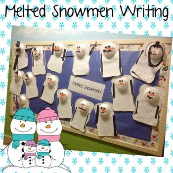 Melted Snowman Writing