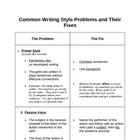 Memoir: Common Writing Style Problems and Their Fixes