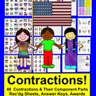 Memorial Day Contractions Literacy Centers-4 Different Set