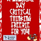Memorial Day Critical Thinking FREEBIE!  (A Logical Memorial Day)