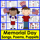 Memorial Day Poems/Songs - 16 Poems + 6 Finger Puppets Sha