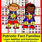 Memorial Day Math Centers:  102 Triangle Fact Families - D