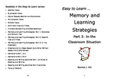 Memory and Learning Strategies 3: In the Classroom - Easy