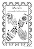 Mendhi ~ Islamic hand decoration info. guide and craft activity