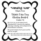Mending Wall by Robert Frost Think-Tac-Toe Choice Board