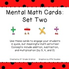 Mental Math Cards - Set Two