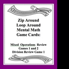 Mental Math Zip Around Loop Around Mixed Review Game Mixed