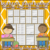 Mentor Sentences:  Conjunctions and Transition Words