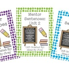 Mentor Sentences Units Bundle