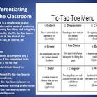 Menus for differentiation