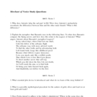 Merchant of Venice Study and Review Questions