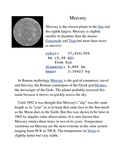 Mercury Common Core Info Sheet and Activity