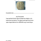 Mesopotamia: Activities Pertaining to Agriculture & Geography
