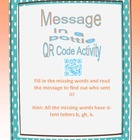 Message in a Bottle QR Code Activity- Silent Letters K, GH, and B
