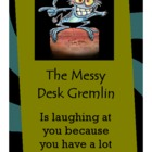 Messy Desk Gremlin Cards