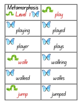 Metamorphosis Spelling - Literacy Centre Activity - 15 pages
