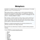 Metaphors - Description and How to Make Your Own - Activit