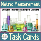 Metric Measurement Task Cards, Grades 6-12, Set of 90 cards