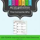 Metric and Customary Measurement Find Someone Who