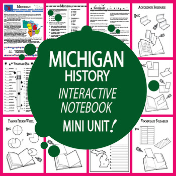 Michigan History Lesson-Common Core-Audio Included!