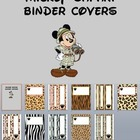Mickey Safari Animal Print Binder Cover Printables