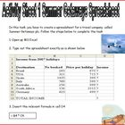 Microsoft Excel Spreadsheet Tasks Booklet